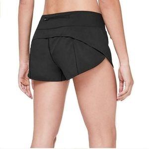 Lululemon Run Speed Shorts Solid Black Size 6